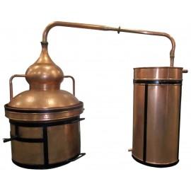 Alambique cierre de agua 250 litros