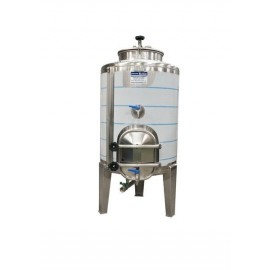 Cuba de cierre hermetico con puerta lateral de 250 litros