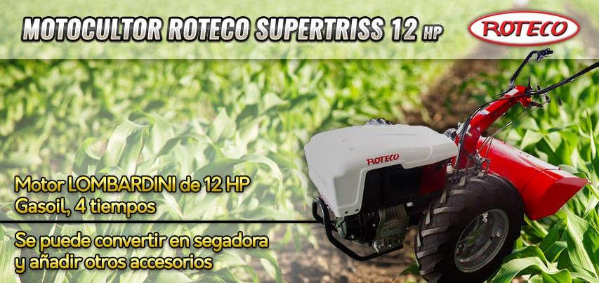 Comercial Rellán - Motocultor Roteco SUPERTRISS 12HP